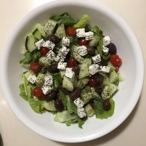Mediterranean Salad with Ruby Goat Feta